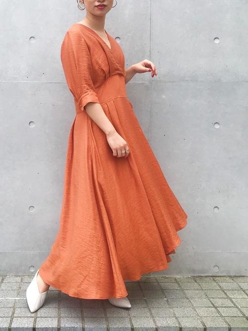 [UNITED TOKYO] カシュクールワンピース