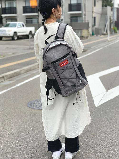 14[Parks TOKYO] 【KANGOL/カンゴール】 BIG ロゴ バックパック