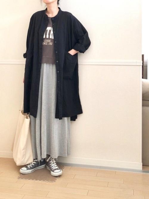 [merlot] ビッグポケットシャツワンピース1102