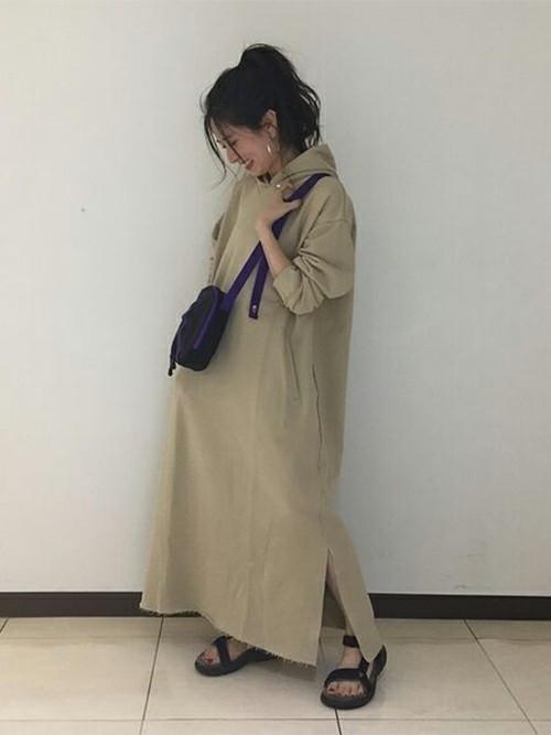 [JOURNAL STANDARD] 30ウラケフードワンピース◆