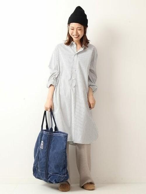 [Spick & Span] パールボタンロングシャツ◆
