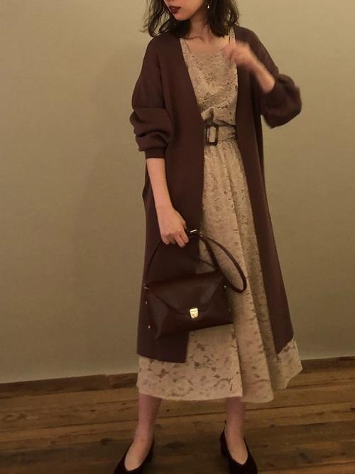 [natural couture] 【WEB限定カラー有り】きれいめニットコーディガン