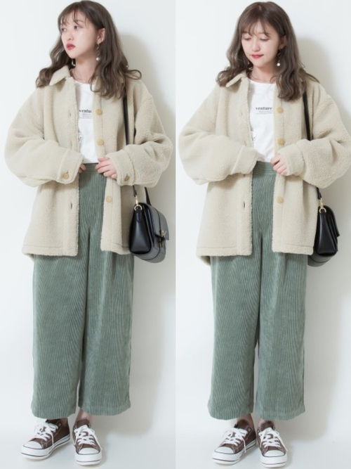 しまむらのパンツと着こなし例4