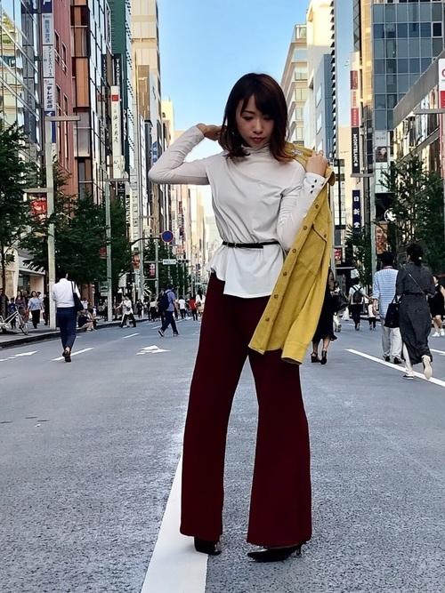 [LOVELESS] 【otonaMUSE10月号掲載】リブニット フレアパンツ