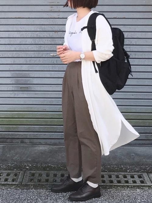 【2020春】ボーイッシュなワンピースコーデ4