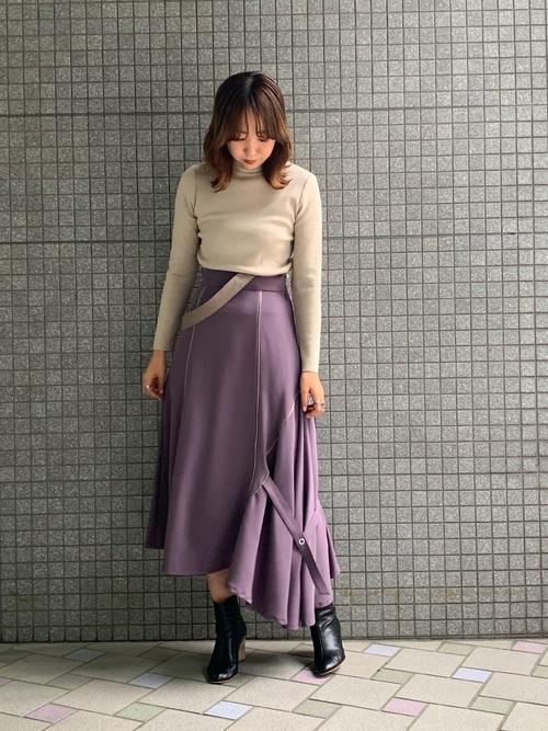 [UNITED TOKYO] アシメラインスカート