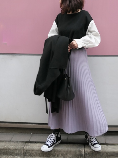 [CORNERS] ニットミディーフレアースカート2