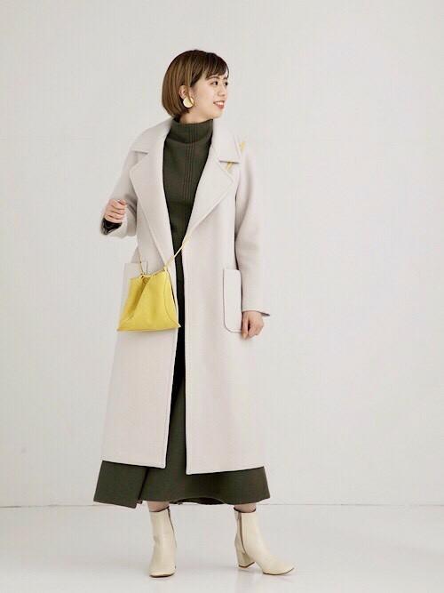 [STUDIOUS WOMENS] 【STUDIOUS】ウール ビッグカラーコート