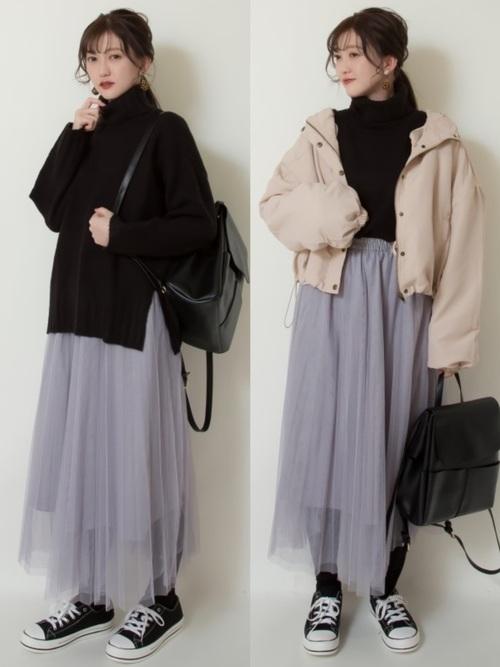 GUの冬スカート45