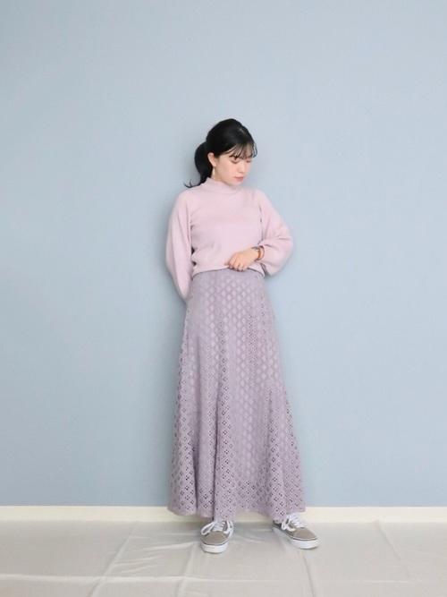 [ROSE BUD] 透かしナロースカート