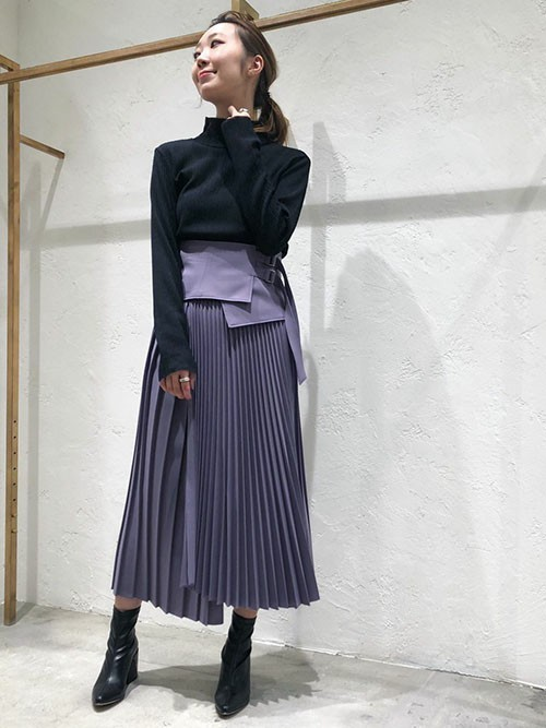 [MAISON SPECIAL] ウールラッププリーツスカート【MAISON SPECIAL/メゾンスペシャル】■セットアップ対応■