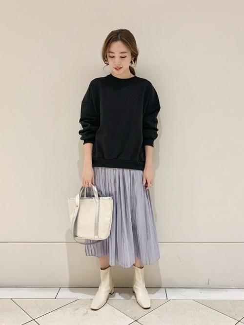 [URBAN RESEARCH] シャイニーカッセンプリーツスカート