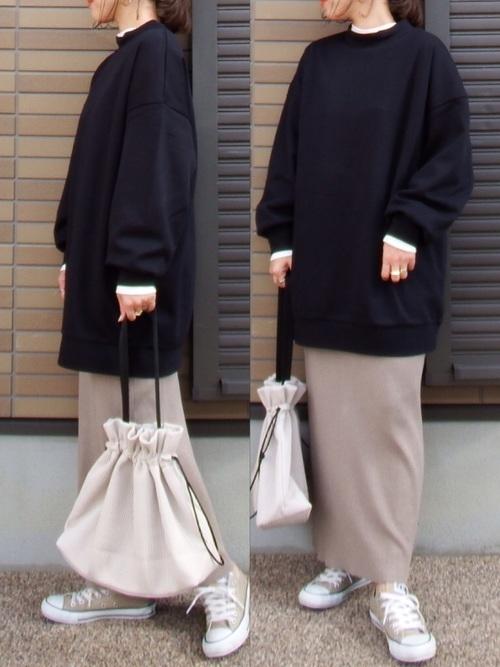 [niko and...] リブタイトマキシニットスカート