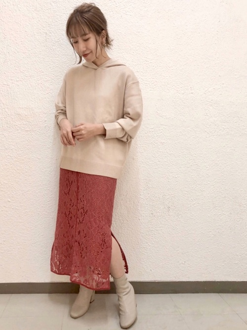 [Andemiu] 【新色ピンク追加】【貴島明日香コラボ】パイピングレースタイトスカート856961