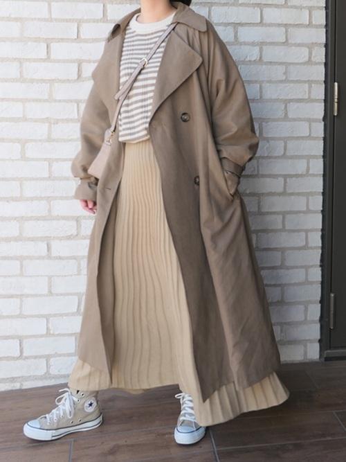 [CORNERS] ニットミディーフレアースカート