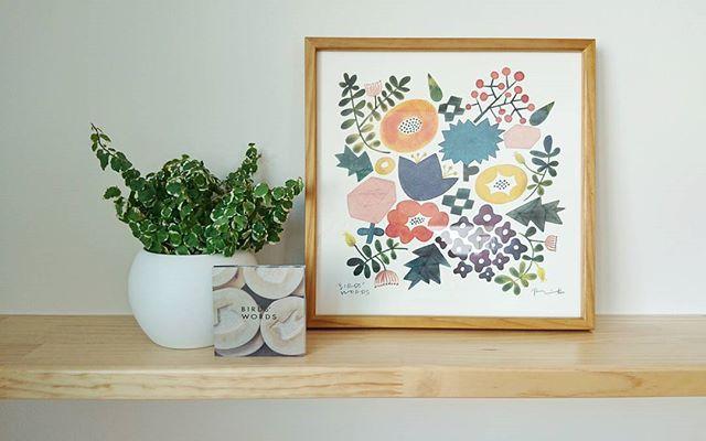 花々を描いたデザイン