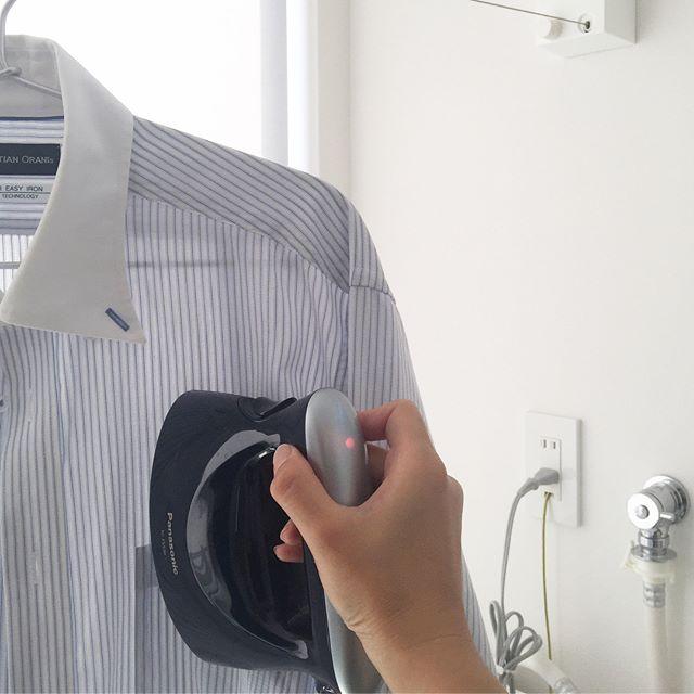 パナソニックの衣類スチーマー