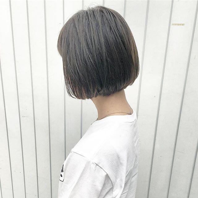 40代女性の前髪あり×ショートボブ《ストレート》5