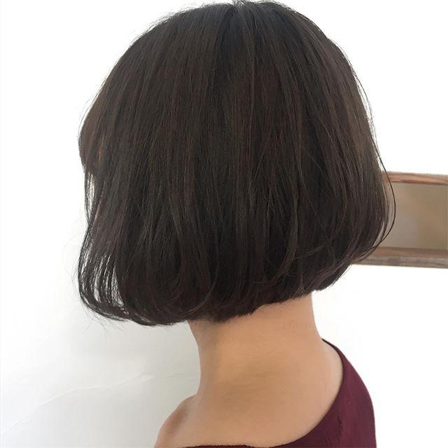 40代女性の前髪あり×ショートボブ《黒髪・暗髪》4