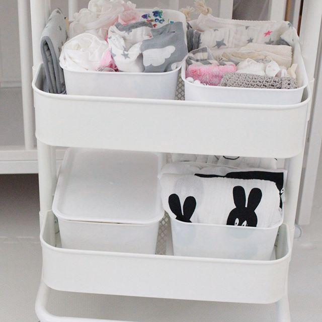 IKEAワゴンを使った赤ちゃんグッズ収納