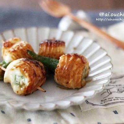 簡単な副菜料理!オクラチーズのちくわ巻き