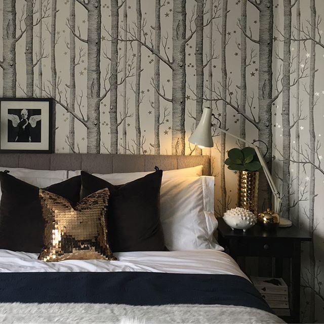 モノトーンの寝室《差し色を使ったインテリア》4
