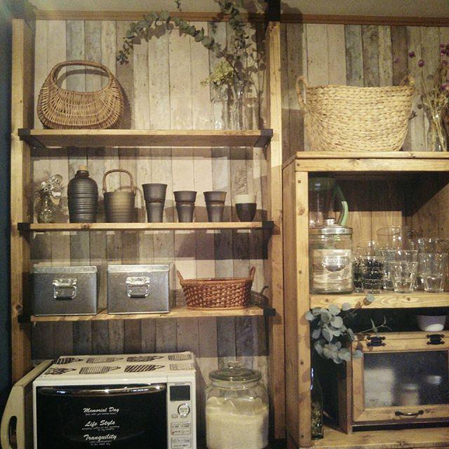 ラブリコでおしゃれな食器棚をDIY