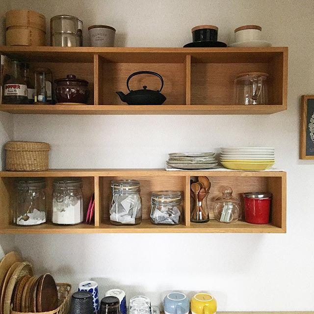 おすすめキッチン雑貨:ウォールシェルフ
