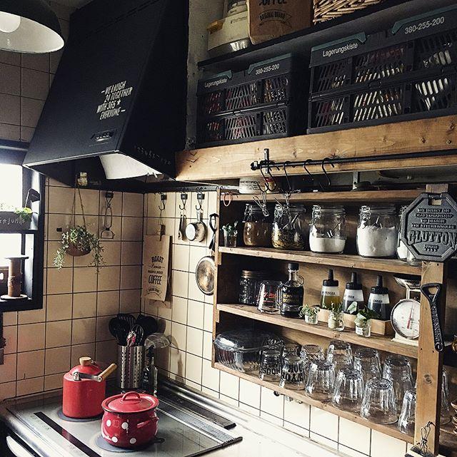 ワンルームのキッチン収納実例9