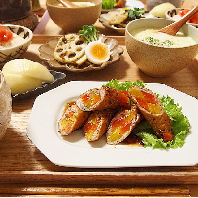 豆腐ハンバーグの付け合わせ《お肉のおかず》4