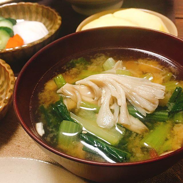 豆腐ハンバーグの付け合わせ《スープ》2