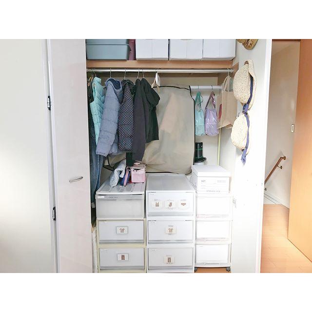 赤ちゃん服にも適した人気のクローゼット収納