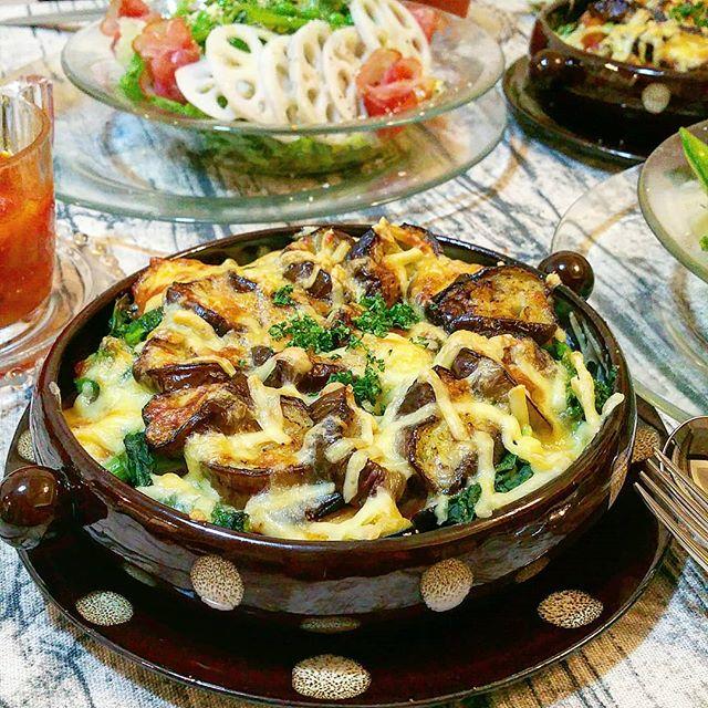 焼き魚には簡単な副菜!野菜ごろごろグラタン