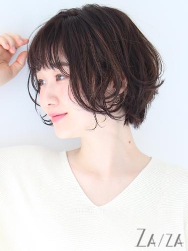 40代女性の前髪あり×ショートボブ《パーマ》4