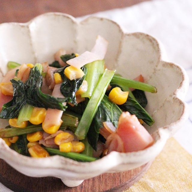 小松菜の簡単な副菜の人気料理《洋風・中華》4