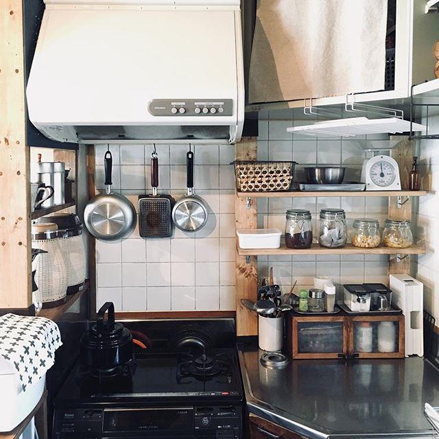 ワンルームのキッチン収納実例21