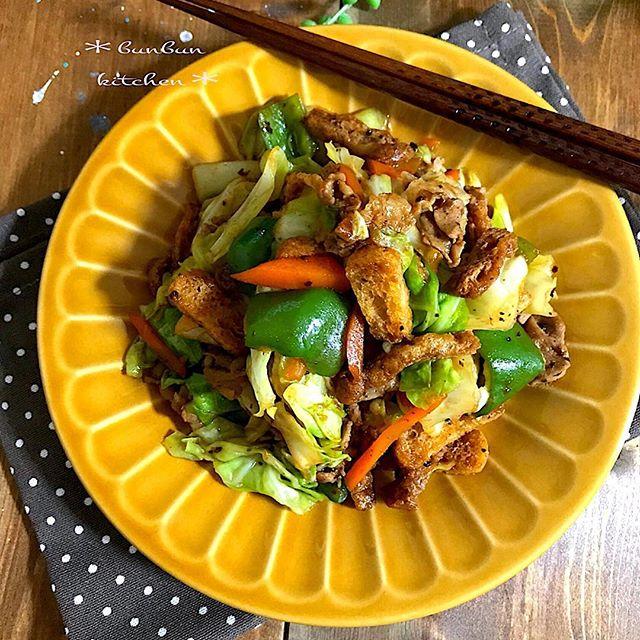 油揚げの簡単な人気のおかずレシピ《炒め・焼き》2