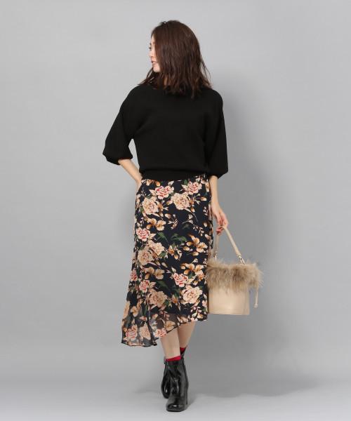 [Andemiu] 【WEB限定】シアーパーツヘムスカート 816586