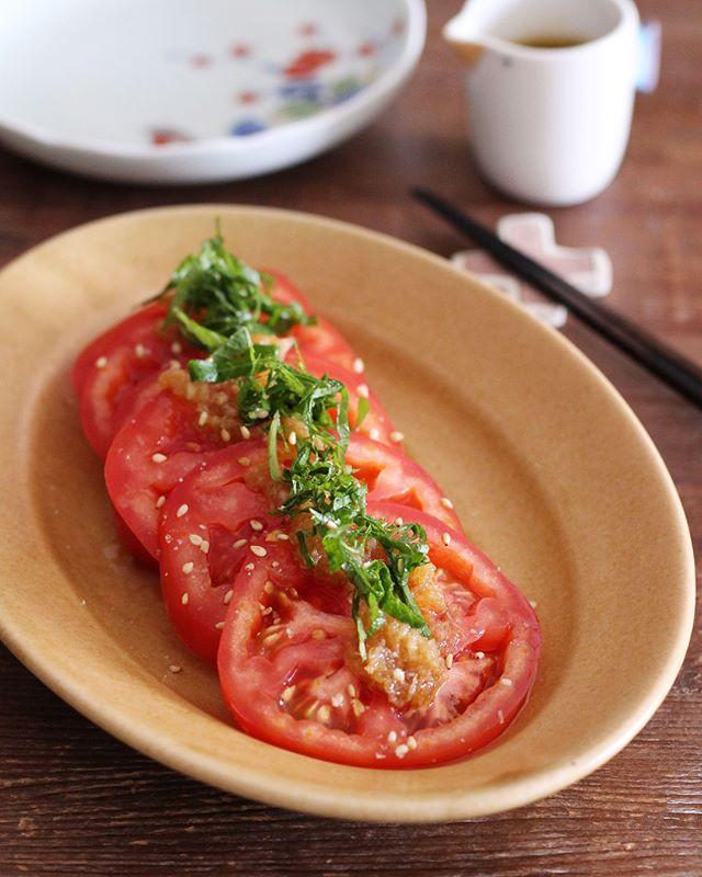 おろぽんドレのトマトサラダ