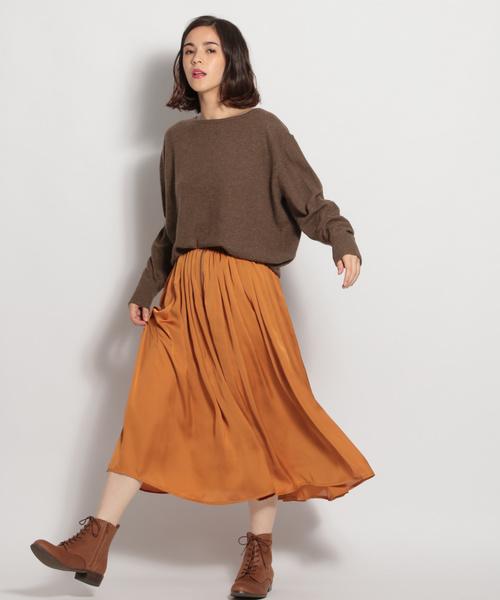 [niko and...] フロントジップギャザースカート