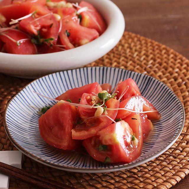 ごま油香るトマトの白だしナムル