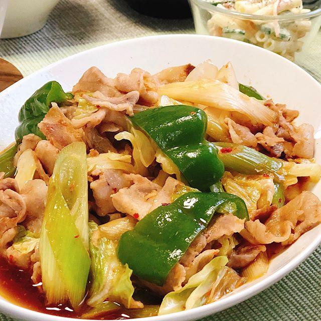 夕食のレシピに!豚肉とキャベツの味噌炒め