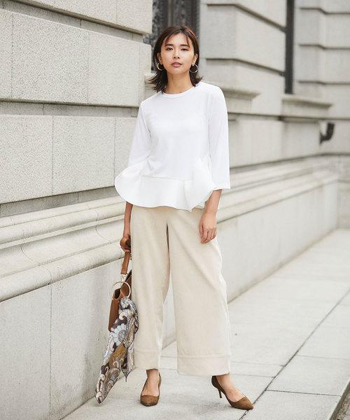 【韓国】4月に最適な服装:パンツコーデ8