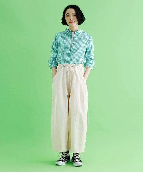 [merlot] ギンガムチェックシャツ1528