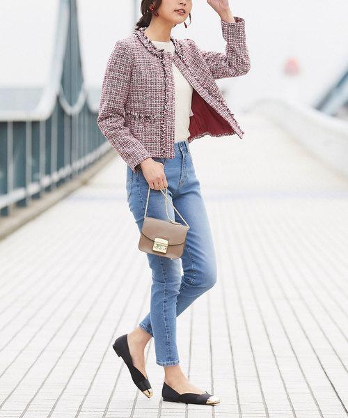 【韓国】4月に最適な服装:パンツコーデ2