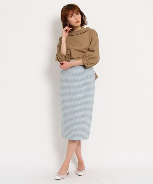 [AG by aquagirl] ギンガムチェックタイトスカート