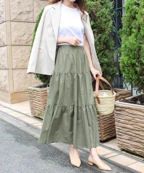 [MODE ROBE] ティアードロングスカート