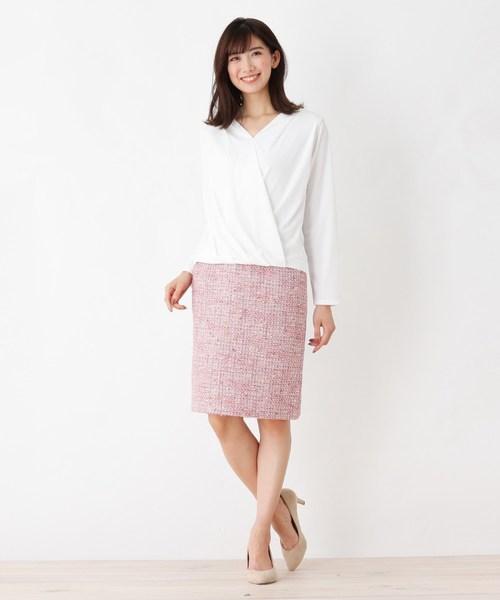 [index] 【洗える】サマーツィード タイトスカート
