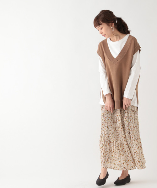 [studio CLIP] 7ゲージベスト×長袖Tシャツセット
