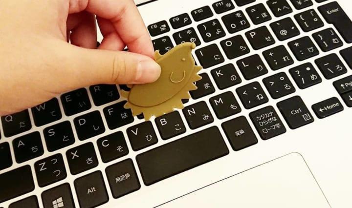 ハリネズミのキーボードクリーナー(キャンドゥ)